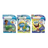 Bundle of 3 Imagine Ink Magic Pictures Activity Books - The Good Dinosaur, Smurfs The Lost Village, and SpongeBob SquarePants