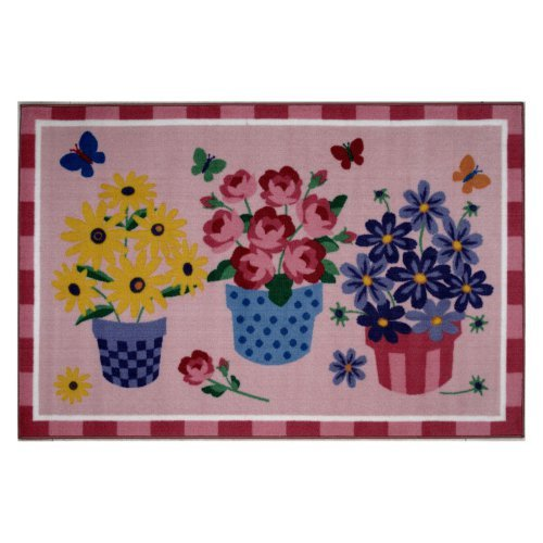 Fun Rugs Olive Kids OLK-014 Blossoms and Butterflies Area Rug - Multicolor