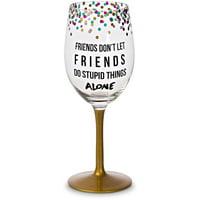 Pavilion-Friends Don't Let Friends 12 oz. Wine Glass