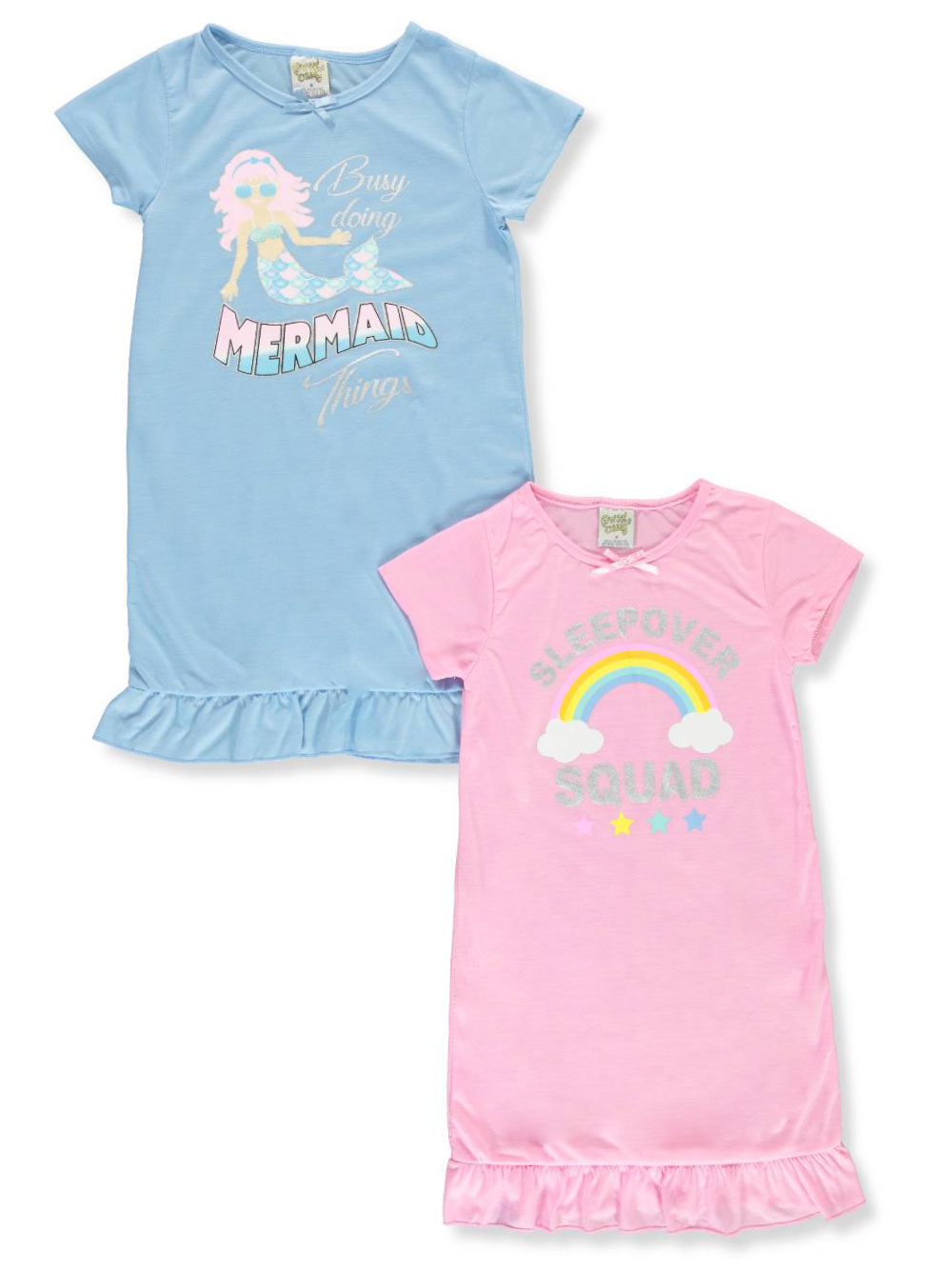 Sweet n Sassy Nightgown Girls' 2-Pack Nightgowns