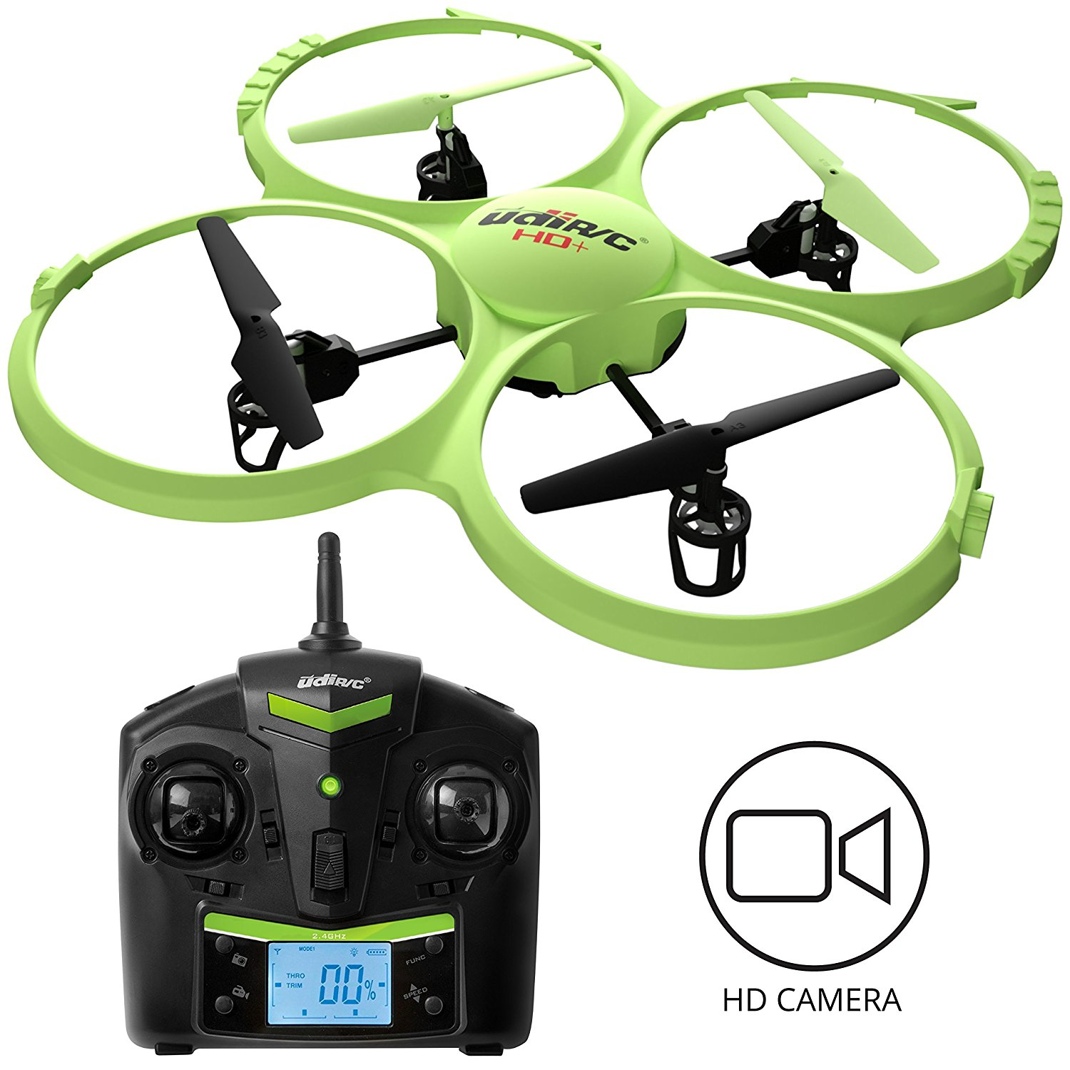 UDI 818A HD + Upgrade RC Quadcopter Drone with Camera 720p HD Headless Mode and Return... by USA Toyz