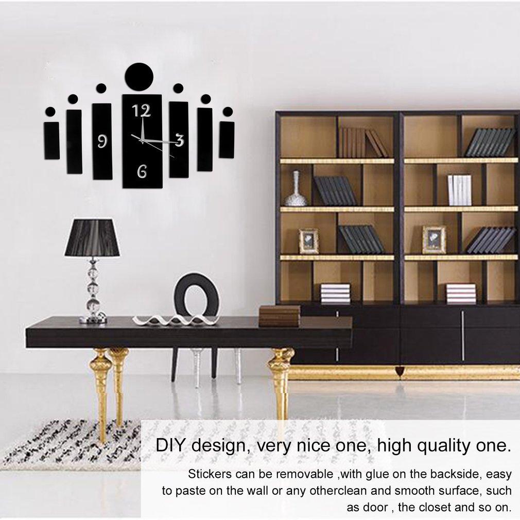 Unique Design DIY 3D Mirror Wall Stickers Home Modern Living Room Bedroom  Decoration 3D Wall Quartz