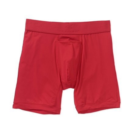 Men's Terramar Silkskins Air Cool Boxer Briefs  - Red XL