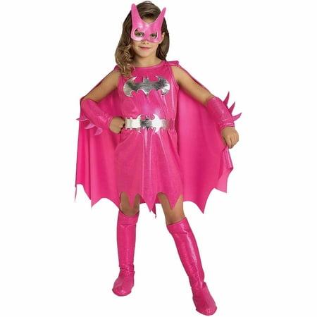 Batgirl Halloween Costume Accessories (Girl's Deluxe Pink Batgirl Halloween)