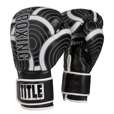 TITLE INFUSED FOAM ENGAGE BOXING GLOVES Black/Grey 14 oz