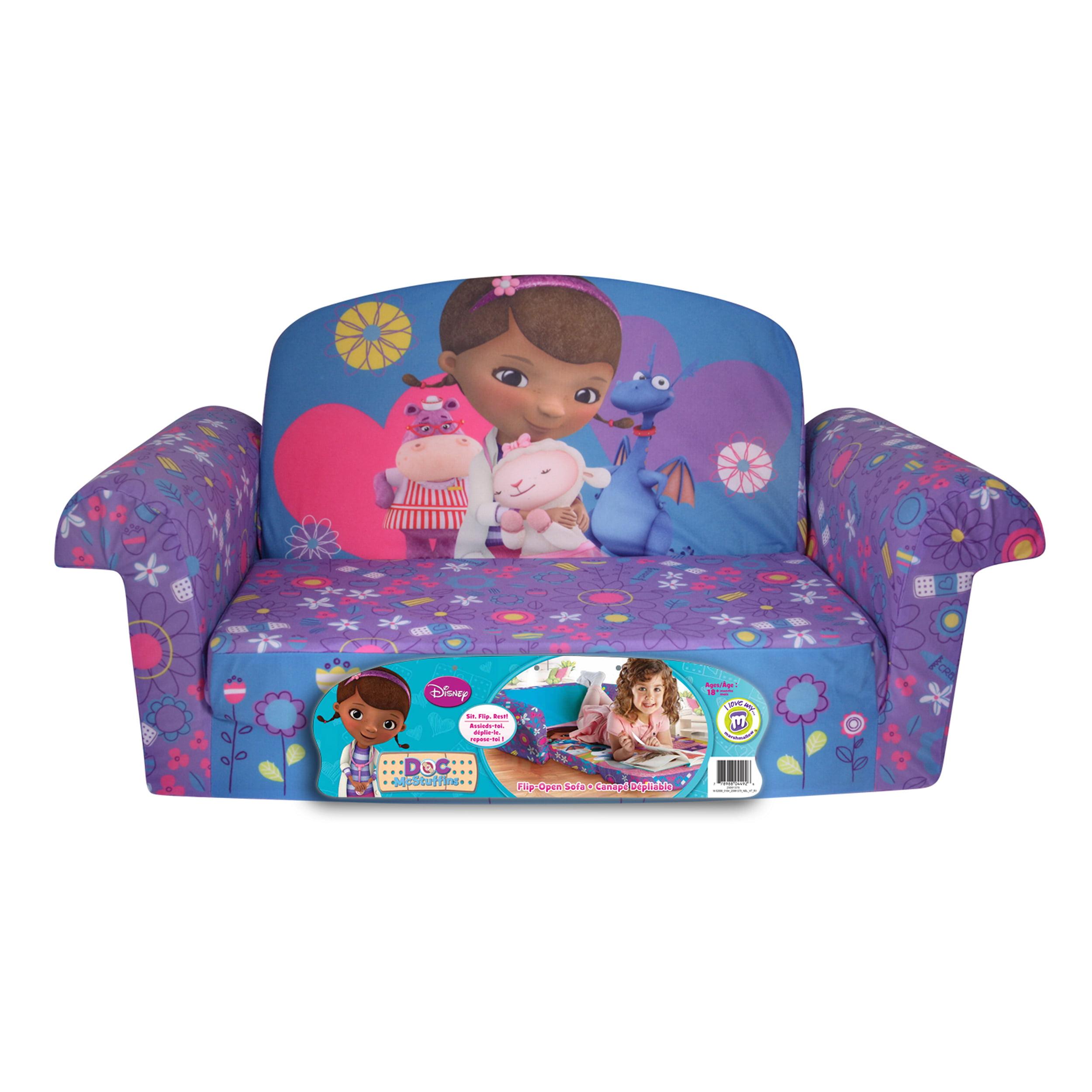 Marshmallow Furniture, Children's 2 in 1 Flip Open Foam Sofa, Disney Doc  McStuffins, by Spin Master - Walmart.com