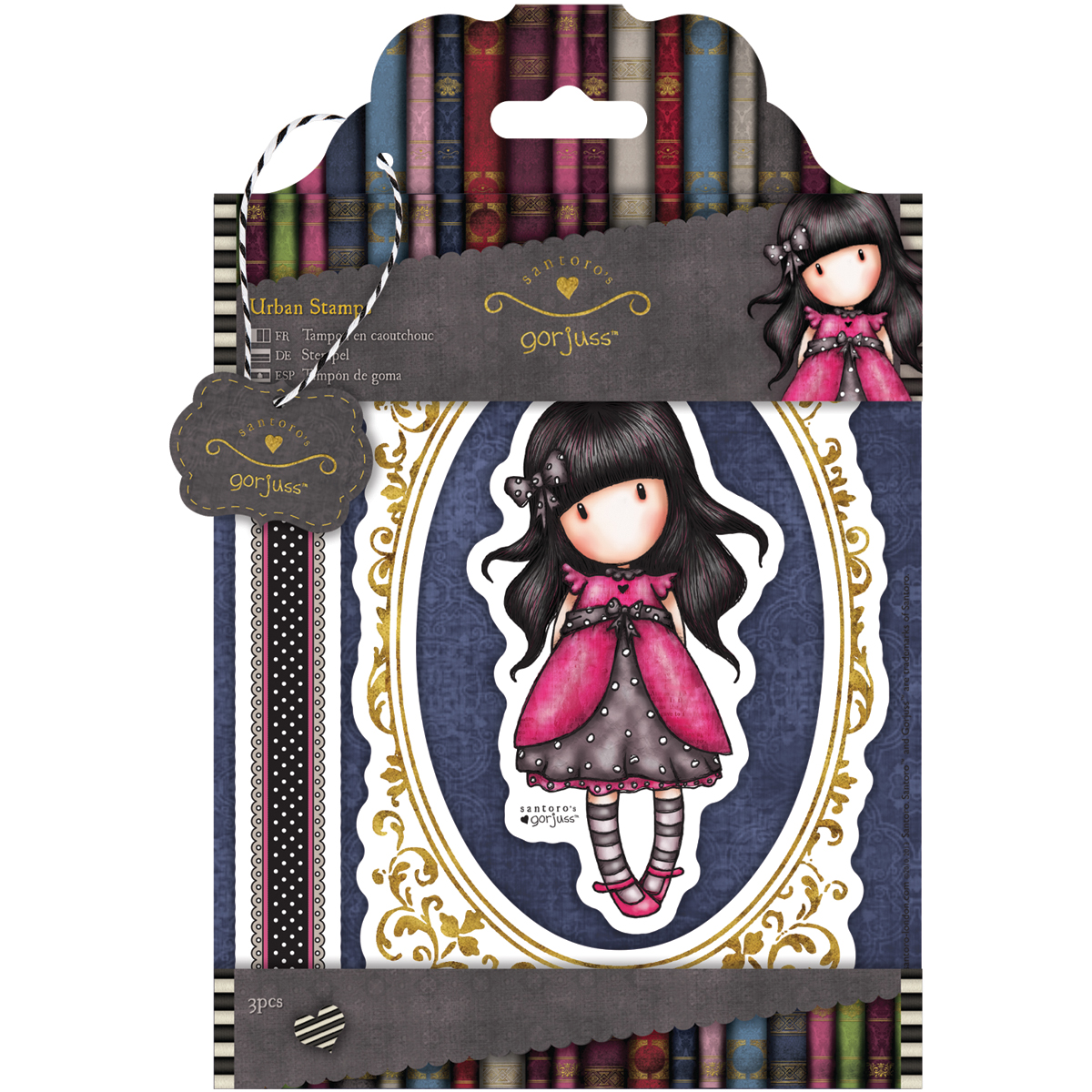 Simply Gorjuss Urban Stamps-Ladybird, 3 Images