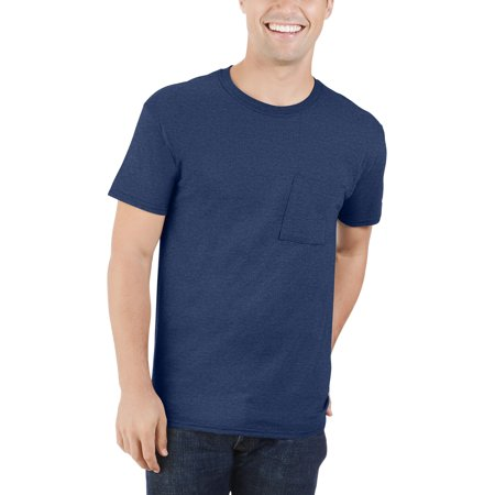 Men's Dual Defense UPF Pocket T Shirt, Available up to sizes (Royal Blue Player T-shirt)