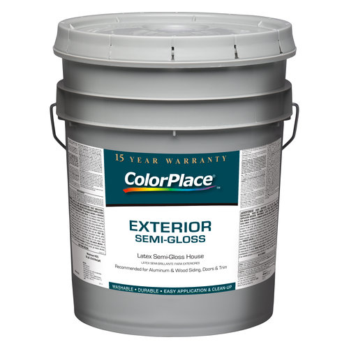 ColorPlace Exterior Semi-Gloss Accent Base Paint, 5 gal