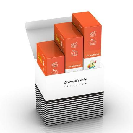 3 Pack - SAL3 Soap - 3% Salicylic Acid, 10% Sulfur - Relief from: Acne, Tinea Versicolor, Dermatitis, Keratosis Pilaris KP, Fungus, Rosacea, Smelly Scalp, Dandruff, Oily Skin, Psoriasis, Eczema,