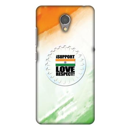 Lenovo P2 Case, Premium Handcrafted Printed Designer Hard ShockProof Case  Back Cover for Lenovo P2 - I Support Love India