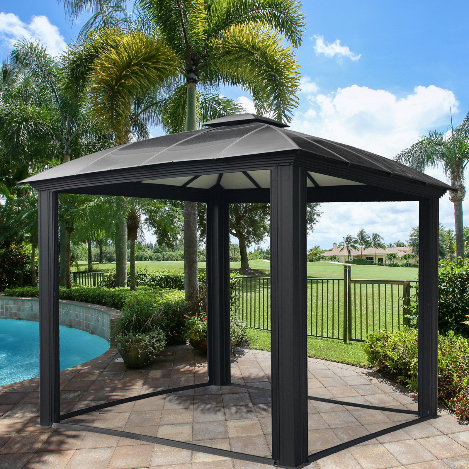 Siena 12x12 Hard Top Gazebo by Paragon Group USA