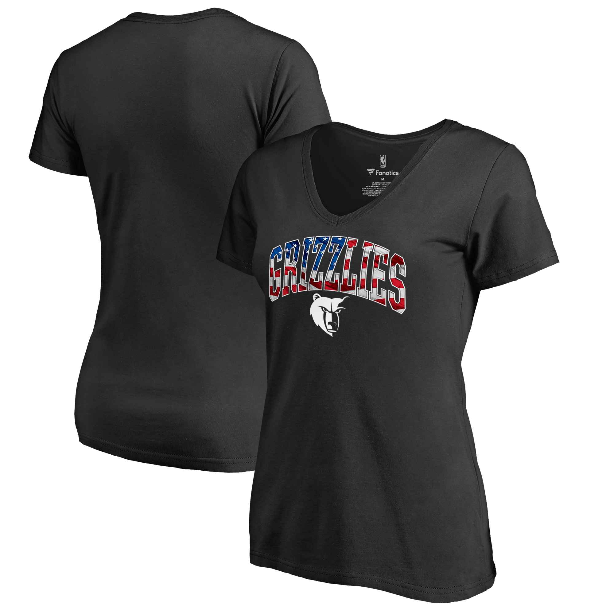 Memphis Grizzlies Women's Banner Wave T-Shirt - Black