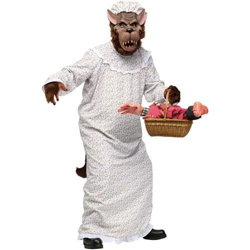 Big Bad Granny Wolf Adult Halloween Costume - One Size