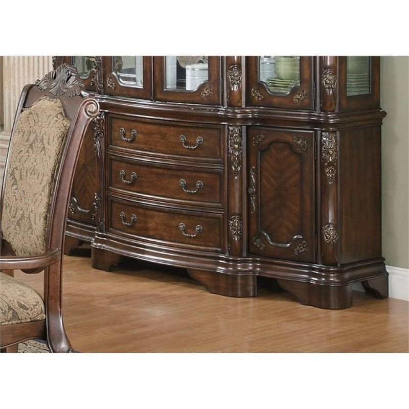Bowery Hill Traditional Dining Buffet in Brown Cherry