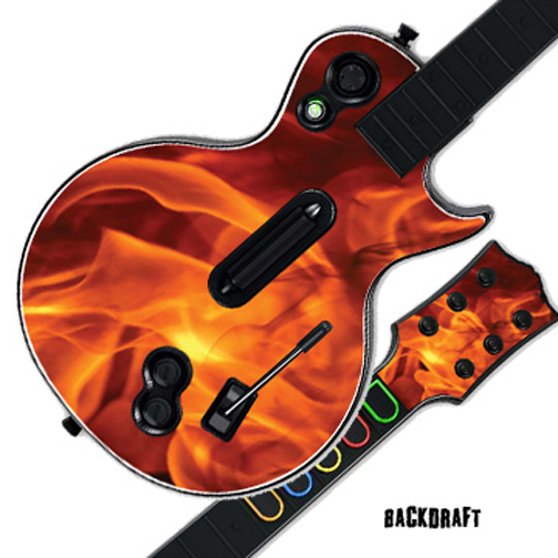Mightyskins Protective Skin Decal Cover Sticker for GUITAR HERO 3 III PS3 Xbox 360 Les Paul - Back Draft