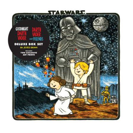Goodnight Darth Vader / Darth Vader and Friends Deluxe Box Set (includes two art prints) (Star (Darth Vader Dark Side Of The Moon)
