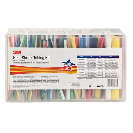 3m fp 301 color shrink tubing kit bl r w y b g c 133 pc. Black Bedroom Furniture Sets. Home Design Ideas