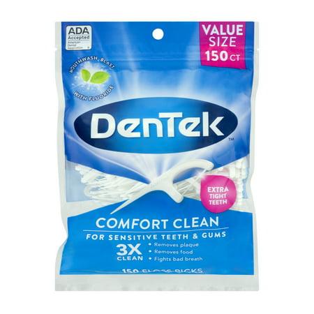 DenTek Comfort Clean Floss Pick, 150 Count