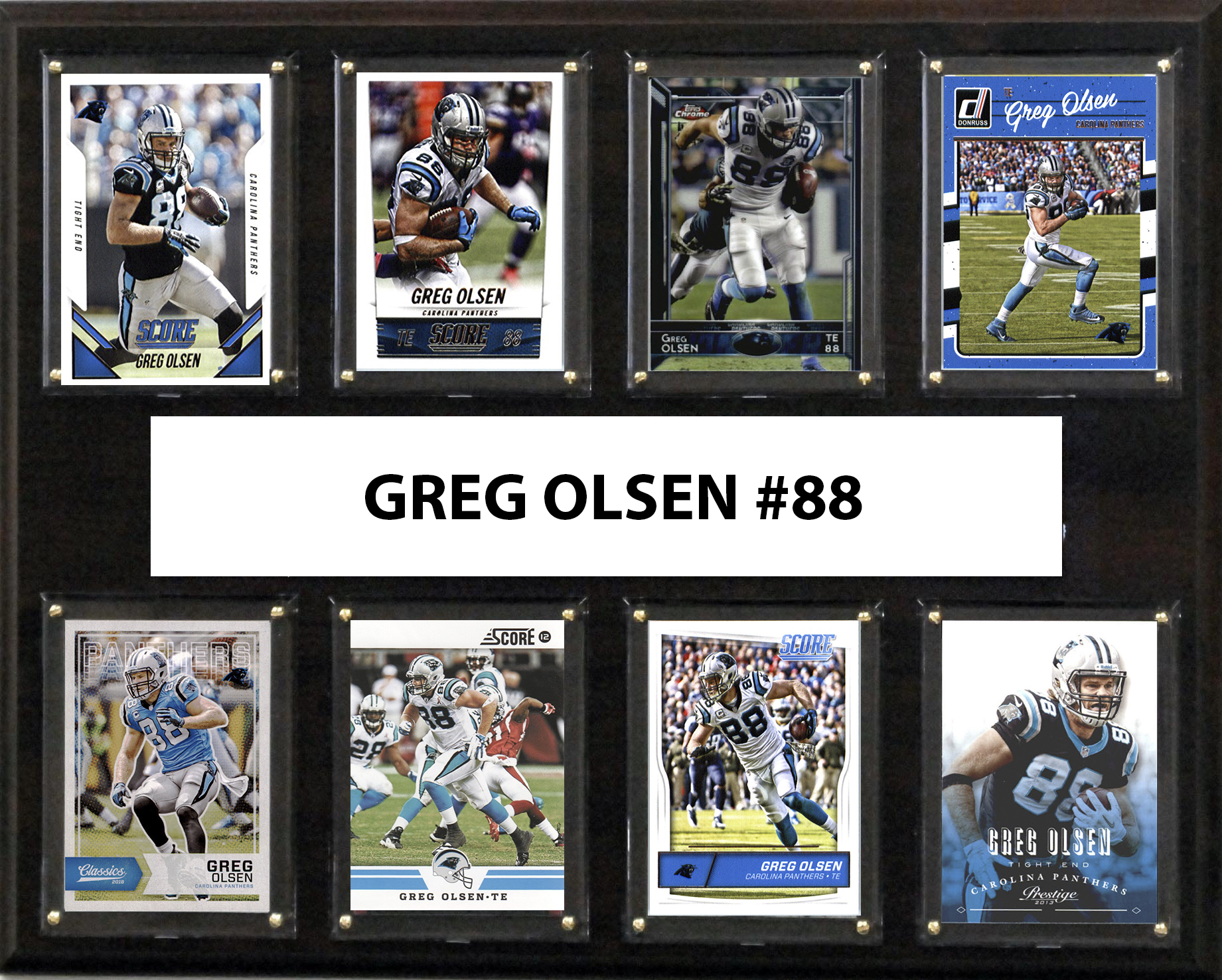 "NFL 12""x15"" Greg Olsen Carolina Panthers 8-Card Plaque by C & I Collectables"