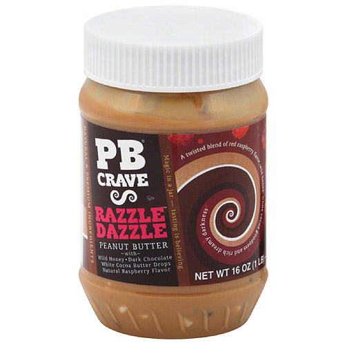 PB Crave Razzle Dazzle Peanut Butter, 16 oz, (Pack of 6)