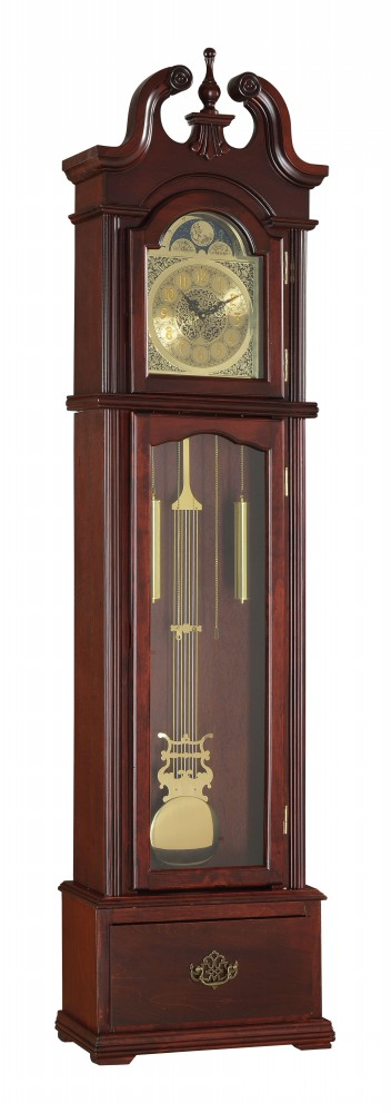 1PerfectChoice Valentine Grandfather Clock Westminster Pendulum Chimes Quartz Drawer Cherry by 1PerfectChoice