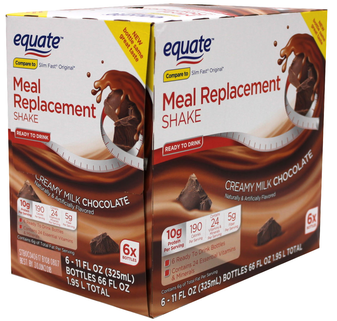 (2 Pack) Equate Chocolate Ultra Weight Loss Shake, 6 Ct