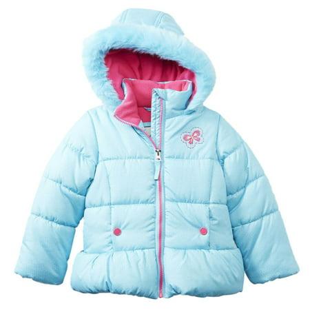 Toughskins Toddler Girls Blue Bubble Jacket Winter Coat - Walmart.com