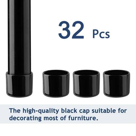 "PVC Leg Tip Furniture Chair Desk Feet Floor Protector 29mm 1.14"" Inner Dia 32pcs - image 2 de 7"