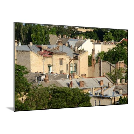 Roofs of Odessa Old Town, Famous European City in Eastern Europe,Ukraine, Unesco Heritage Wood Mounted Print Wall Art By