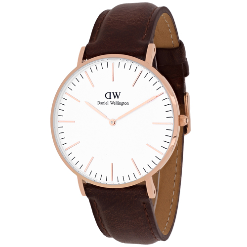Daniel Wellington Women's Bristol 0511DW Bronze Leather Quartz Watch