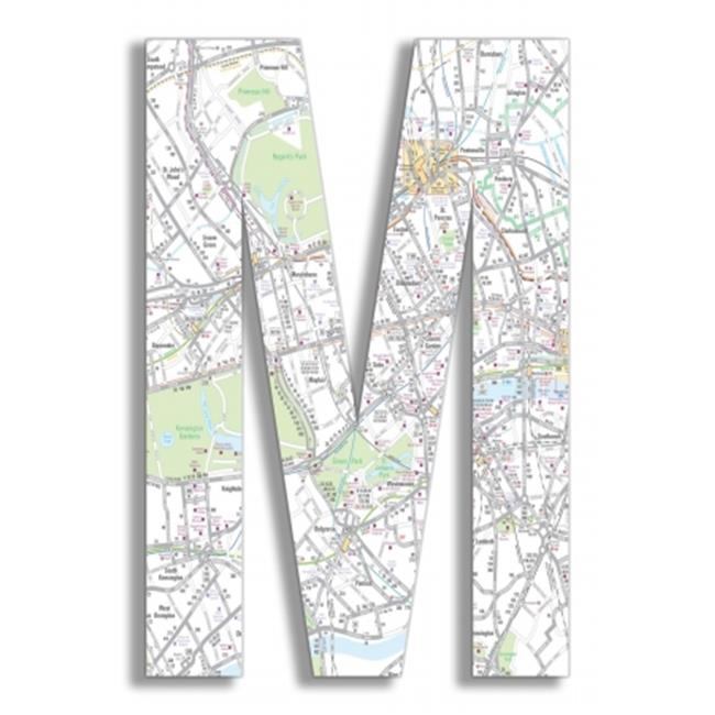 Stupell Industries OHI-116-M London Map 18 Inch Hanging M