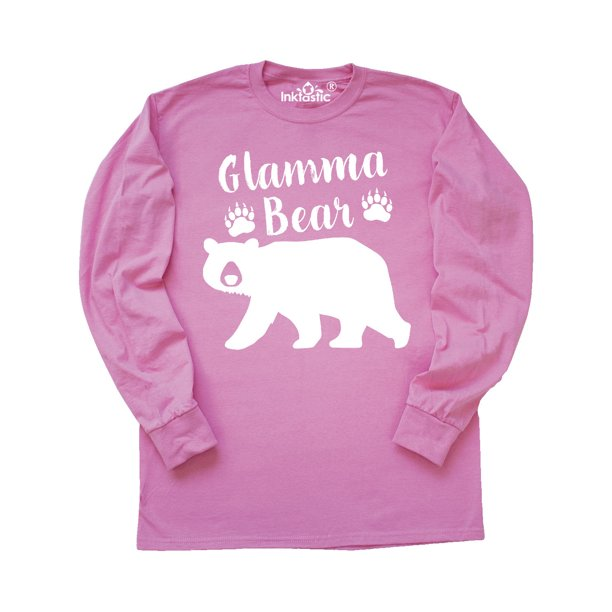 Glamma Bear in White Long Sleeve T-Shirt