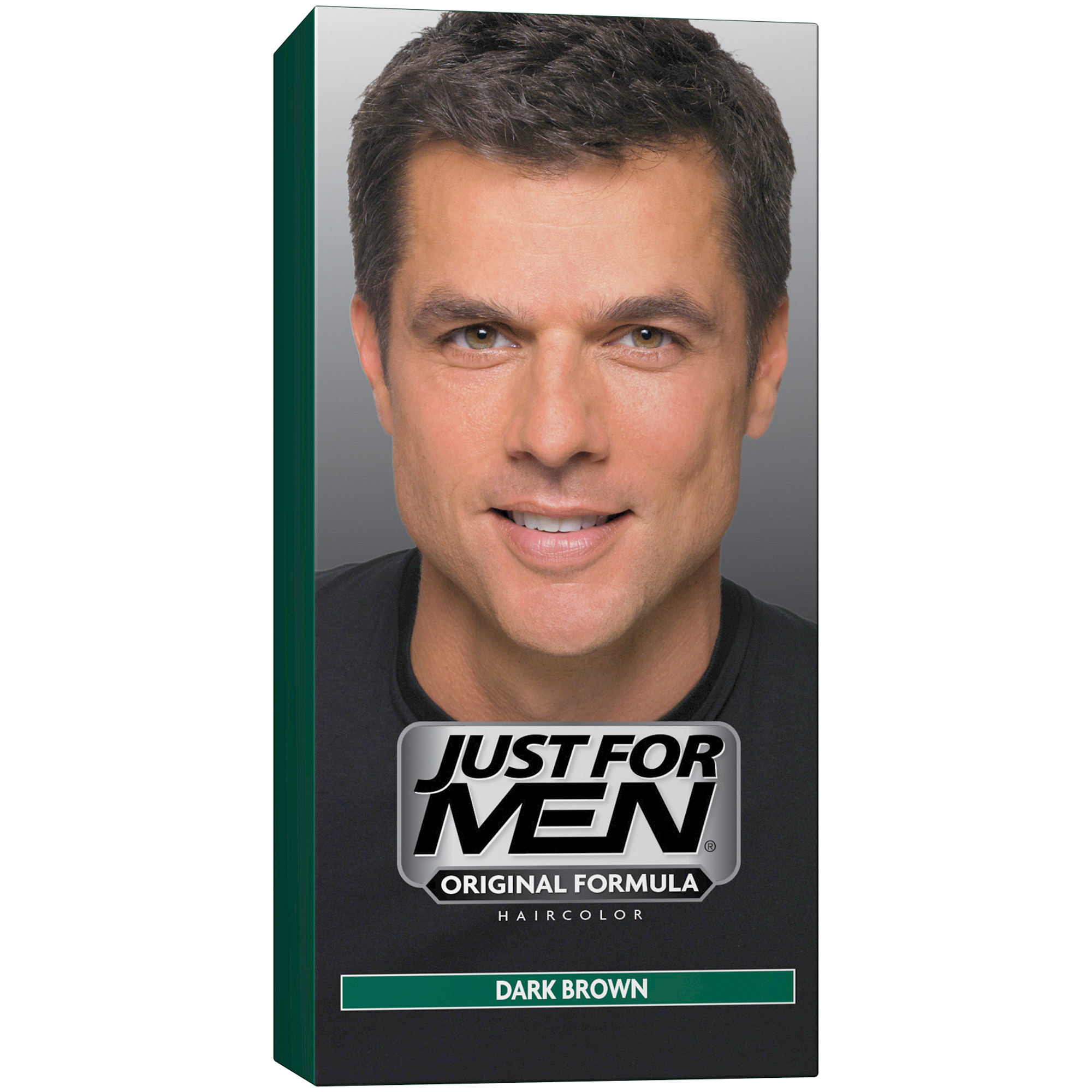 Just For Men Shampoo-In Hair Color Dark Brown, 1 Application, Pack ...