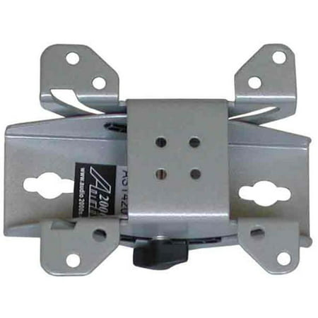 Angle Wall Mount (Flat Panel TV-Monitor 90 Degree Swivel Wall Mount with Plus --15 Degree Tilt Angle - Silver)