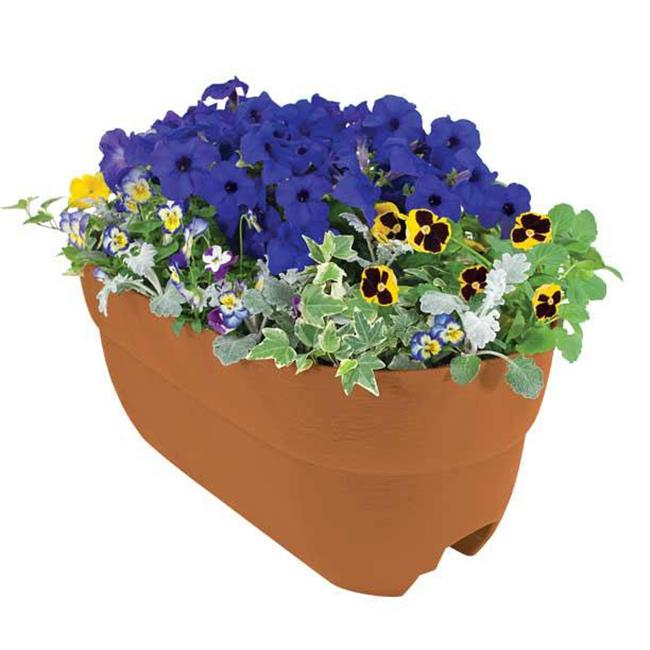 EmscoGroup 2441-1 Bloomers Rail Planter 24 in. Multi Planter - Terra Cotta