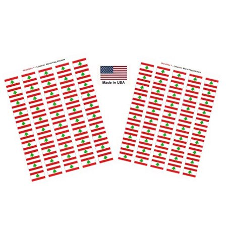 Lion Sticker Sheet (Made in USA! 100 Country Flag 1.5