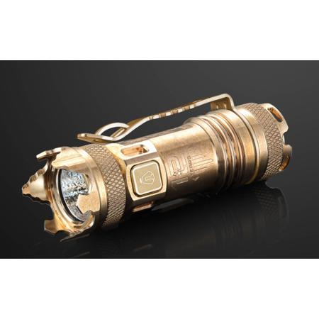 JETBeam II PRO Annodized Titanium Anniversary Limited Edition XP-L HI LED Flashlight - Personal Defense - 510 (Best Personal Defense Flashlight)