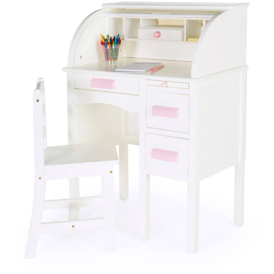 Guidecraft JR Roll-Top Desk, White by Guidecraft
