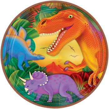 Dinosaur Party Dinner Plates (8-pack) - Party Supplies - Dinosaur Party Plates