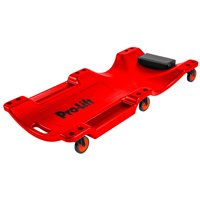 Pro Lift C-6040 Mechanic Plastic Creeper 40 Inch - Blow Molded Ergonomic HDPE Body with Padded Headrest & Dual Tool Trays - 350 Lbs Capacity Red