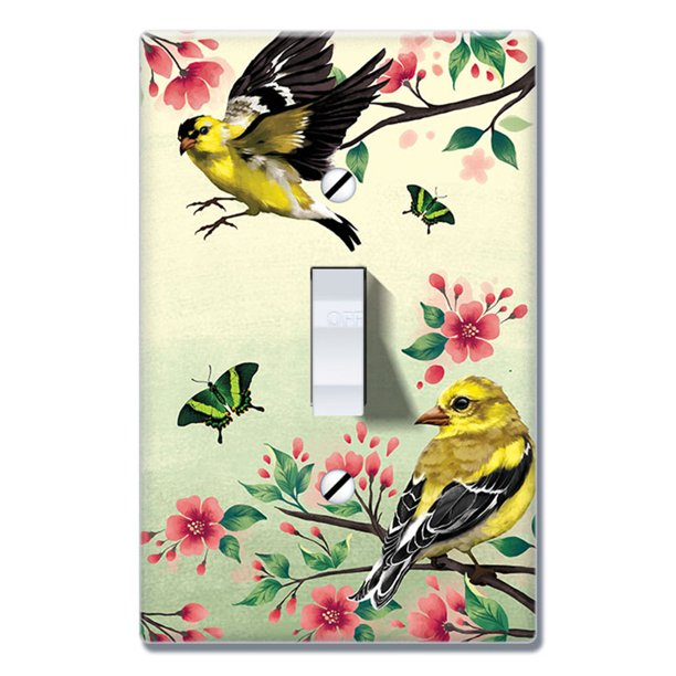 Wirester 1 Gang Toggle Wall Plate Switch Plate Cover American Goldfinch Birds Walmart Com Walmart Com