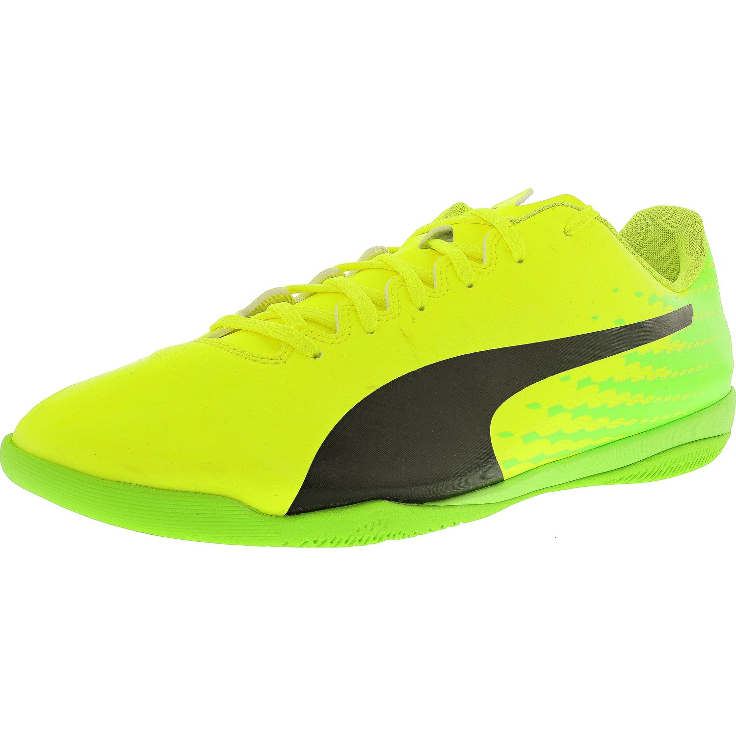 Puma Men's Evospeed 17.4 It Yellow   Black Green Ankle-High Indoor Court Shoe 12.5M by Puma