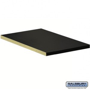 21 Inch Extra Wide Plum - Compartment Shelf - for 21 Inch Deep Extra Wide Designer Wood Locker - Full Depth - Black