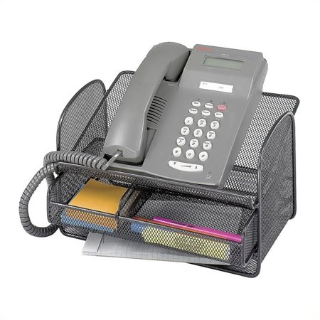 Safco Onyx Mesh Telephone Stand With Drawer  Qty  5