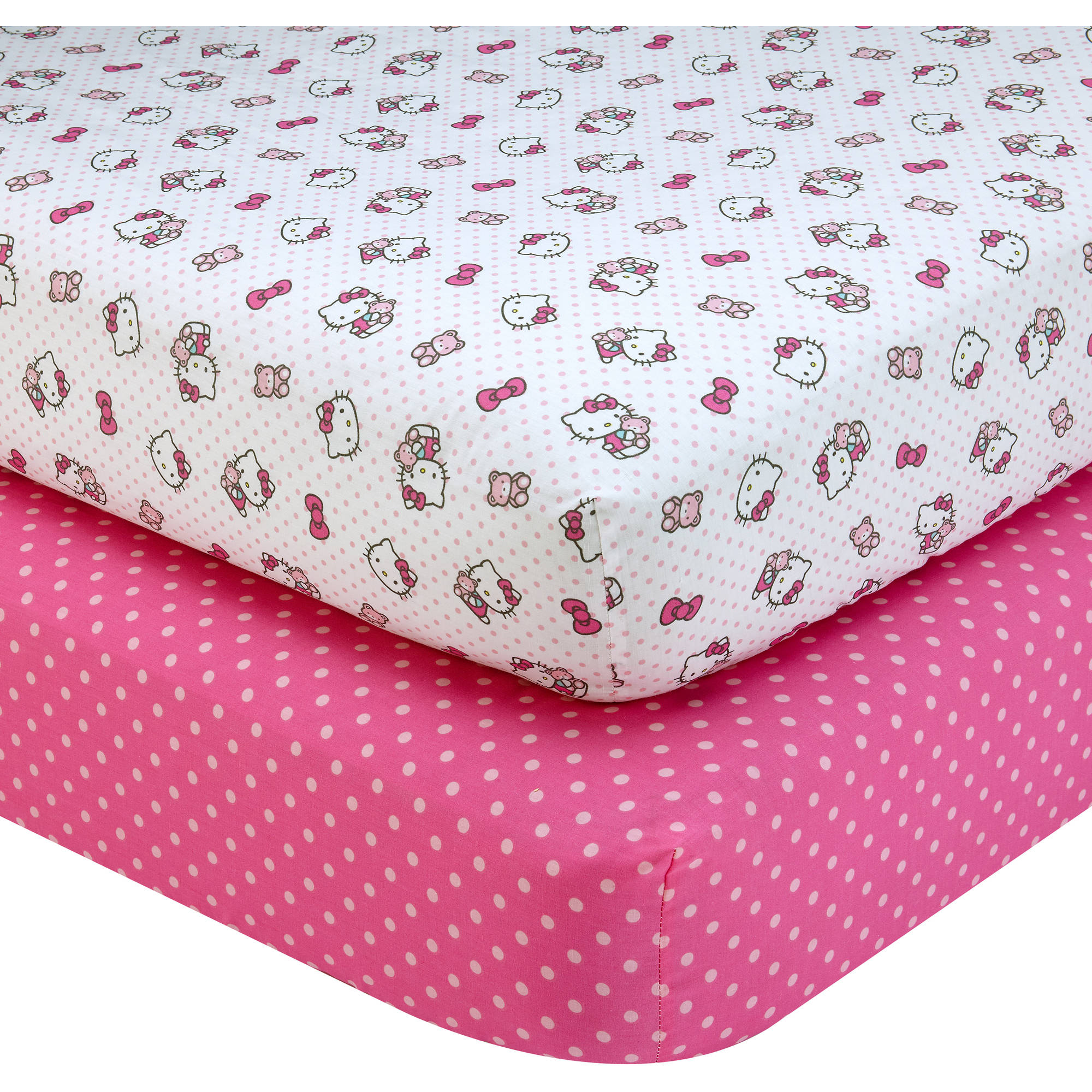 Hello Kitty Cute as a Button 2-Piece Crib Sheet Set