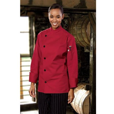 - 0482-1905 Rio Chef Coat in Red - XLarge