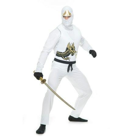 White Ninja (Halloween Ninja Avenger Series II Adult Costume)