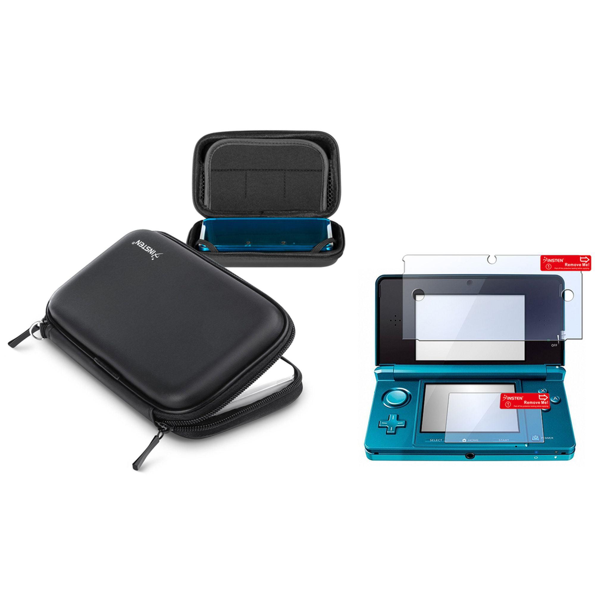 Insten For Nintendo 3DS BLACK EVA CASE WITH SCREEN PROTECTOR
