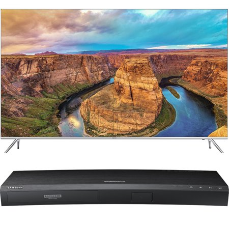Samsung 65-Inch 4K SUHD Smart HDR 1000 LED TV – KS8000 8-Series (UN65KS8000FXZA) with Samsung 3D Wi-Fi 4K Ultra HD Blu-ray Disc Player
